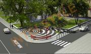 разработка схемы мощения и Дизайн-проект укладки  тротуарной плитки.
