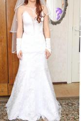 Продам свадебное платье( рыбка )