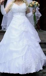 Продам свадебное платье белое,  1 раз б/у